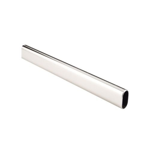 Oval Closet Rods 8'ft (Box of 10 Rods) Chrome by Imex