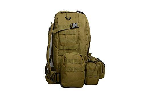 manfâ 55L Große Kapazität Rucksack Assault Rucksack Outdoor Militär Combat Rucksack Tasche Wandern Camping Bergsteigen Tasche mit Handtuch
