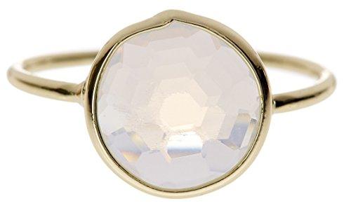 Moonstone 18k Gold Clad Wholesale Gemstone Round Ring