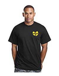 Wu-Tang Clan Embroidered Chest Crest Logo Mens Music Band Tee