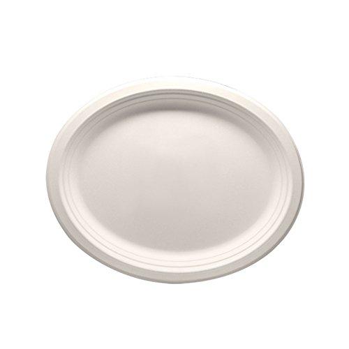 Lollicup KE-BPO12510-1C Karat Earth Bagasse Plate, Oval, ...