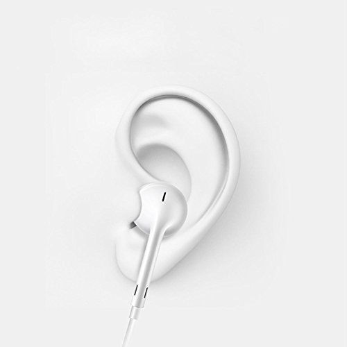 VOWSVOWS 2-PACK Premium Earphones/Earbuds/Headphones with Stereo Mic&Remote Control for iPhone iPad iPod Samsung Galaxy and More Android Smartphones Compatible With 3.5 mm Headphone WHITE by VOWSVOWS (Image #3)