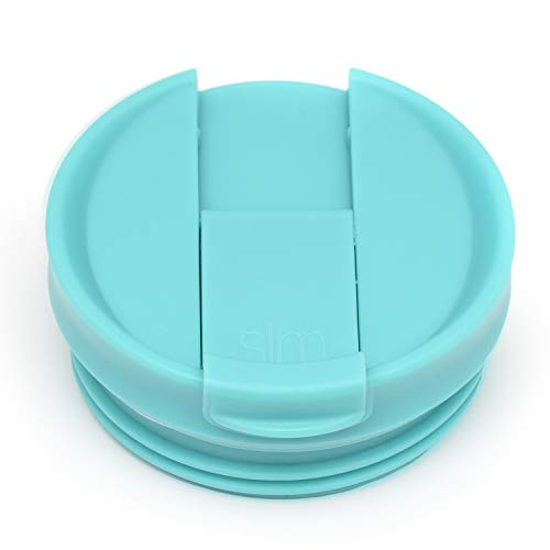 Simple Modern Flip Lid - Fits all Sizes Classic Tumblers, Journey Travel Mugs and Scout Coffee Mugs - Teal Internally Threaded Leak Proof Lid -Caribbean