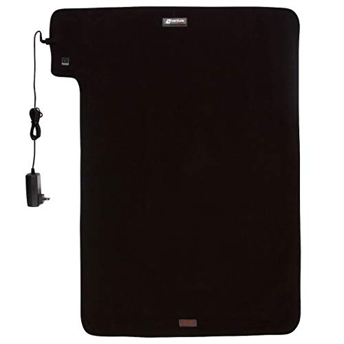 36' x 24' XXL Venture Heat Far Infrared Heating Pad for Pain Relief Therapy - Circulation and Healing, FDA Cleared, 100-240v Travel Electric Heated, 60 Min Auto Shut Off (Black)