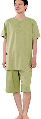 メンズ パジャマ 半袖 かぶり 丸首 オーガニックコットン100% 薄地天竺ニット [502]