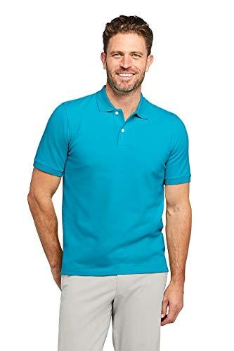 (Lands' End Men's Short Sleeve Comfort-First Mesh Polo Shirt Calypso)