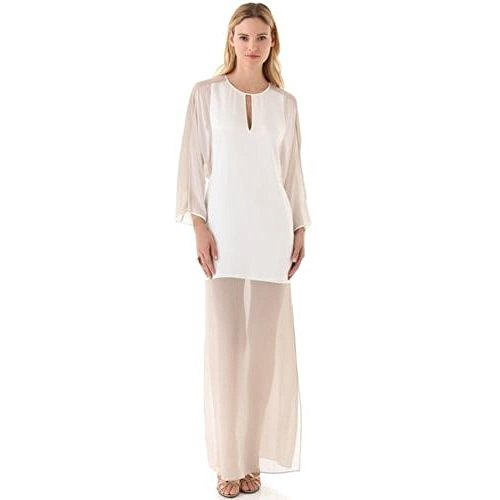 BCBGMAXAZRIA BCBG Maxazria Runway 'The Luca Dress' Sheer Chiffon Panels Silk Dress (Dress Silk Chiffon Bcbg)