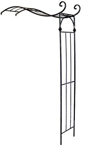 Halbbogen Enrico B 150 cm Halbrosenbogen Rosenbogen Metall dunkelbraun Spalier Wandbogen