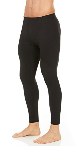 Thermajohn Mens Thermal Pants Bottoms (Black, Medium) ()