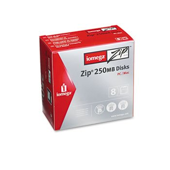 iomega® IBM/Mac Compatible Zip Disk DISK,ZIP 250MB, 8/PK DISCONTINUED BY MANUFACTURER