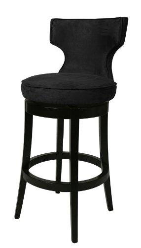 Pastel Furniture Augusta 26 Barstool In Feher Black Upholstered In Mi