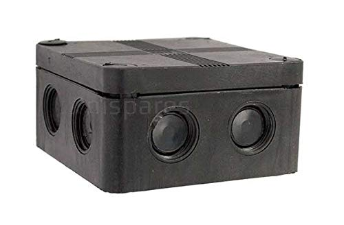 IP66 Black Weatherproof Outdoor / External Junction Box Complete With Connector by SEL