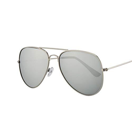 - Fashion Pilot Sunglasses Women Vintage Female Glasses Frame Black Pilot Sun Glasses Female,Silver Silver