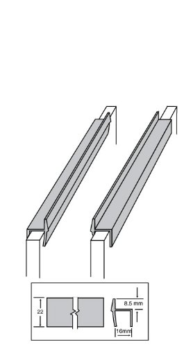 Side File Rail - Custom Accents Pvc Hanging File Rail For 5/8