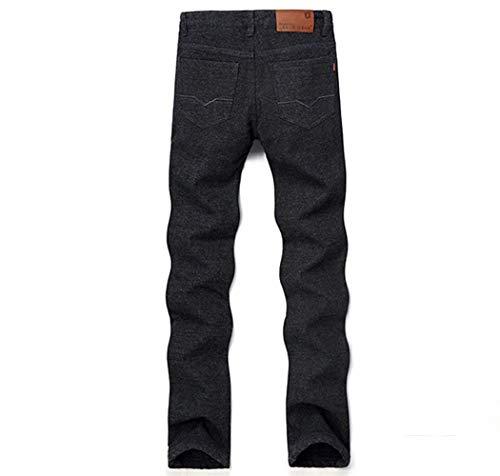 Addensanti Nero In Denim Giovane Winter Regular Fashion Pantaloni Saoye Da Di Uomo Warm Slim Stretch Base Design qzxZapgv