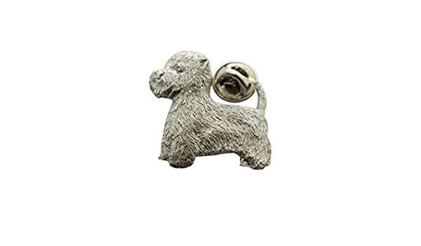 WESTIE West Highland Terrier Dog Fine PEWTER PIN Jewelry Art USA Made