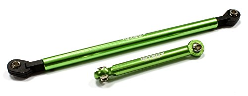 Integy RC Model Hop-ups C22846GREEN Alloy Steering Linkage (2) for Axial AX10 ()