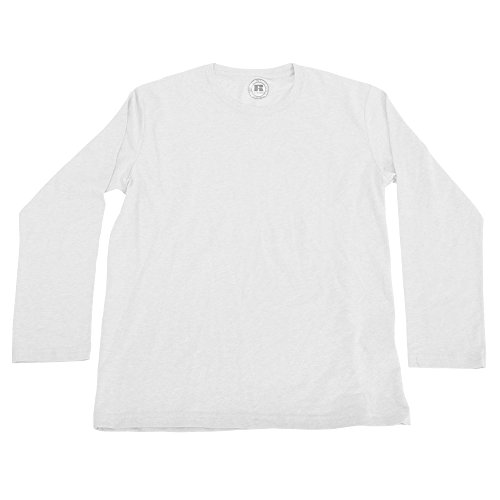 - Russell Older Boys Long Sleeve HD T-Shirt (34-36in) (White)