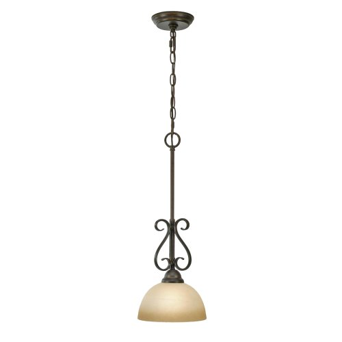 Riverton Pendant Finish - Golden Lighting 1567-M1L PC Riverton Mini Pendant, Peppercorn Finish