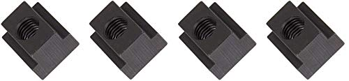 1018 Steel T-Slot Nut, Black Oxide Finish, Grade 5, Tapped Through, 3/8''-16 Threads, 5/8'' Height, 9/16'' Slot Depth, Made in US (Pack of 5) (4-(Pack))