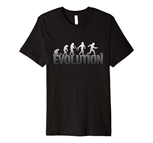 - Bowling Evolution Funny Classic Black and White Bowler Shirt