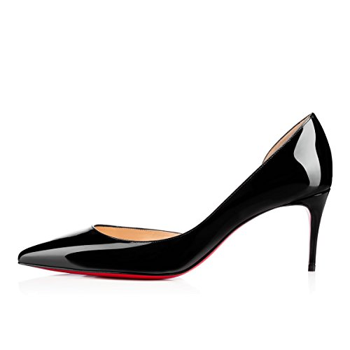 Bal 12 Ouvert Bout 5cm Femmes Talon Pompes Pointu Aiguille on Hauts Caitlin Semelle CM 6 6 Chaussures Slip Semelle 10 de Patent EscarpinsTalons Pan Black Rouge Rouge 5CM CM Bout pgwYaxxqz
