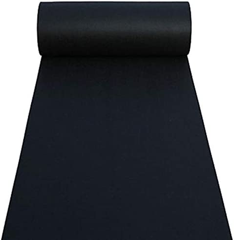 Black Aisle Runner Carpet Rugs for Step and Repeat Display, Ceremony Parties and Events Indoor or Outdoor Decoration 24 Inch Wide x 15 feet Long