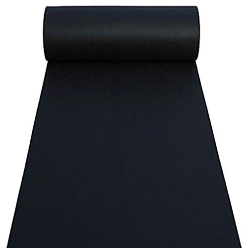 Event Accessories - Aisle Runners Wedding Accessories Black Aisle Runner Carpet Rugs for Step and Repeat Display, Ceremony Parties and Events Indoor or Outdoor Decoration 40 Inch Wide x 30 feet Long