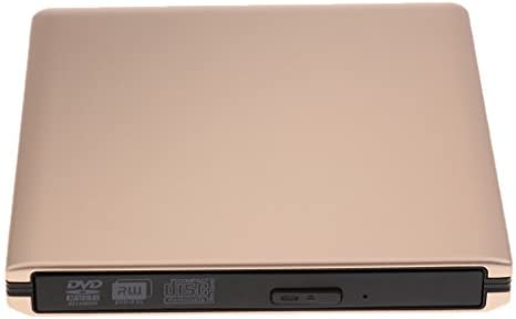 P Prettyia 外部USB3.0 CD/DVDオプティカルドライブDVD-RWライターバーナーリーダー - ゴールド