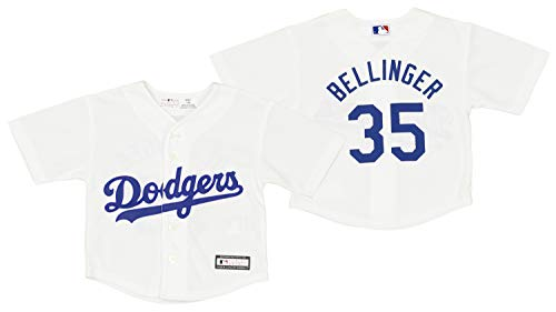 Outerstuff Los Angeles Dodgers Cody Bellinger #35 MLB Baby Boys Infant Cool Base Home Replica Jersey, White 12M
