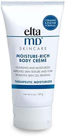 EltaMD Moisture-Rich Body Crème Travel Size for Dry, Sensitive Skin, Dermatologist-Recommended, 2.0 oz