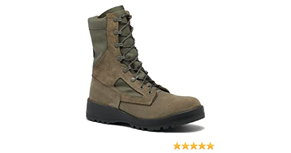 Belleville Womens Hot Weather Combat Green Olive Leather Boots 10.0W