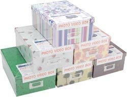 Bulk Buy: Pioneer Photo Storage Box 4.5''X8''X11.5'' Assorted Designs B1 (3-Pack) by Pioneer Photo Albums