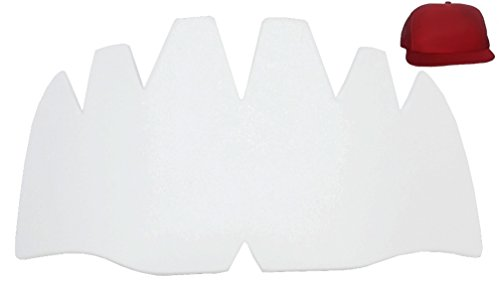 3Pk. Truckers Mesh Caps Inserts| Hat Shapers| Hat Liner| Crown Hat Stretcher| Ball Caps Shaper| for Brim and Crown Cap| Hat Support| Hat Padding| Hat Cleaning Aide| Storage Aide| Long Lasting (White)