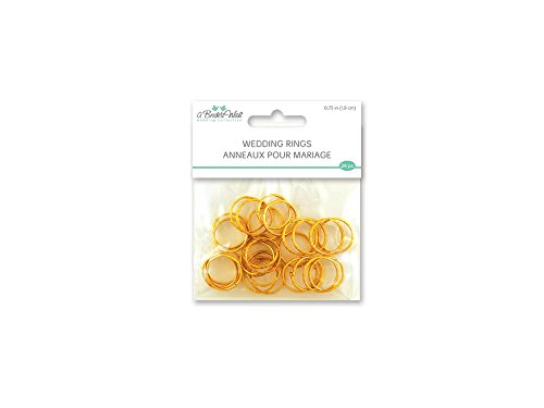 """Price comparison product image Multicraft Imports WB200AWedding Rings 3 / 4"""" 24 / Pkg-Gold (WB200A)"""