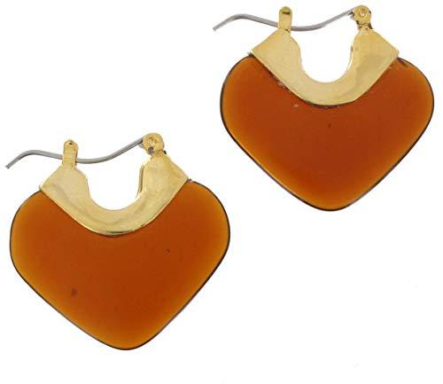 Lucite Pierced Earrings (Faux Tortoise Lucite Dangle Pierced Earrings For Women Set)