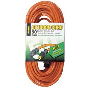 Prime Wire & Cable EC501630 50-Foot 16/3 SJTW Medium Duty Extension Cord, Orange by Prime Wire & Cable