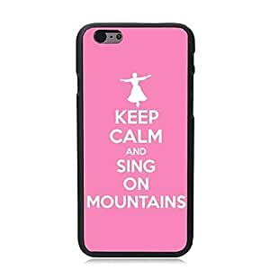HaleyL-Keep Calm and Sing On Mountains Plastic Hard Back Cover for iPhone 6 Plus