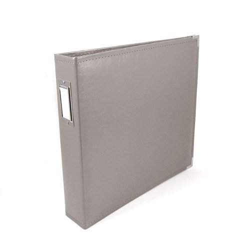 (We R Memory Keepers Classic Leather 3-Ring Binder Album, 12 by 12-Inch, Charcoal)