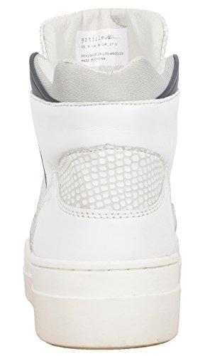 Artikel Nummer Nº 0225-0214 Heren Hoge Top Sneakers Schoenen Wit / Zwart