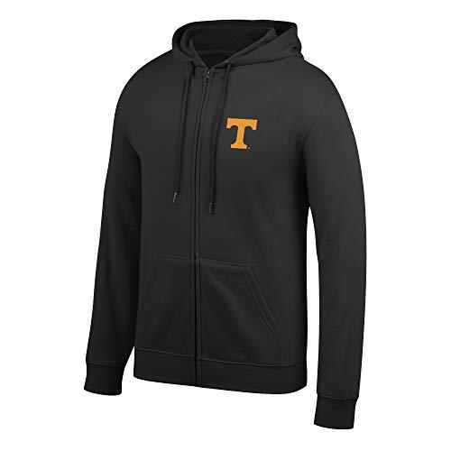 (Top of the World NCAA Men's Tennessee Volunteers Lightweight Full Zip Hoodie Black Small)
