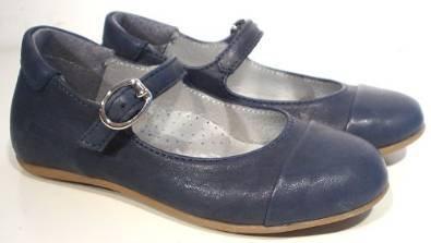 HIP ® Spangenschuhe Ballerinas blau Leder