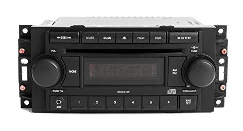- 1 Factory Radio AM FM CD Aux mp3 iPod Input Compatible With 2004-2010 Jeep Dodge Chrysler P05064171AE REF