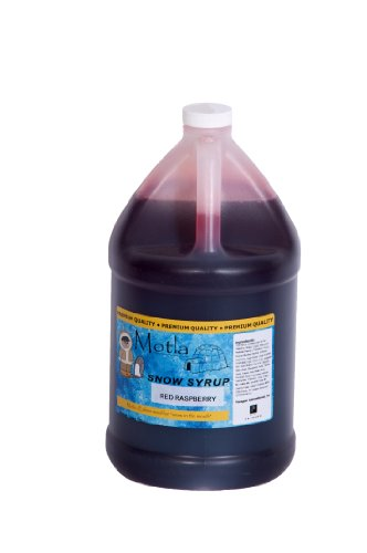 Paragon Motla Premium Sno Cone And Shaved Ice Syrup  Red Raspberry  Gallon