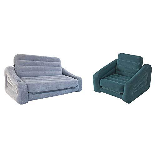 Amazon.com: Intex - Sofá hinchable 2 en 1 y colchón de aire ...