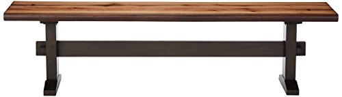 Burnham Two-Tone Live Edge Dining Bench with Trestle Base Natural Honey and Espresso by Scott Living (Image #2)