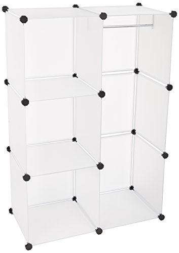 (Mind Reader Storage Cube Organizer Cabinet, Wardrobe Closet Clothing Storage Shelf)