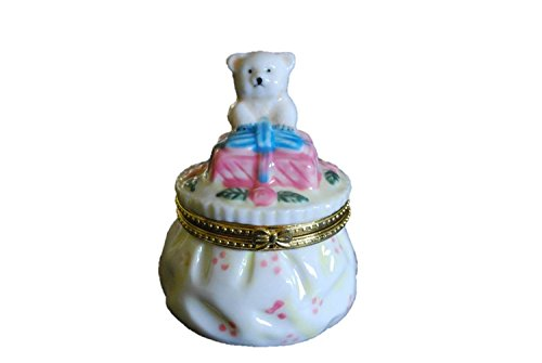 Handcrafted Porcelain Bear Collection Jewelry Box