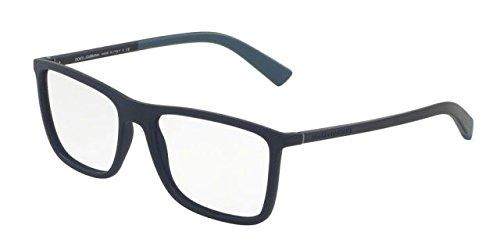 Dolce&Gabbana DG5021 Eyeglass Frames 2806-54 - Dark Blue Rubber - And Dolce Dark Blue Gabbana