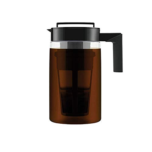 Cold Brew Iced Coffee Maker 900 ml ,Glass Pitcher Cold Brewer with Removable Filter for Kitchen Dining Bar,Random Color